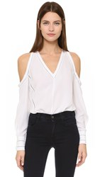 Yigal Azrouel Cold Shoulder Blouse Optic
