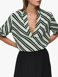 Selected Femme Pixie Short Sleeve Top Laurel Green Rosin