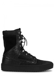 Android Homme Tactical Black Suede Boots
