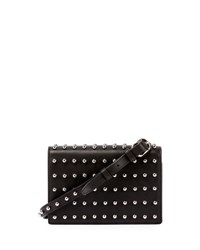 Alexander Wang Prisma Double Biker Studded Purse Wallet Black