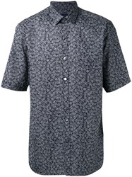 Lanvin Paisley Print Short Sleeve Shirt Black