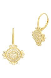Freida Rothman Women's Amazonian Allure Pave Drop Earrings Gold