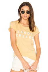 Amuse Society Sandy Cheeks Tee Yellow