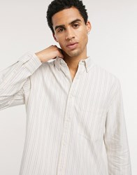 Weekday Henning Striped Shirt In Yellow