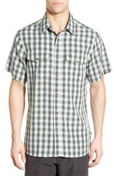 Fjall Raven Men's Fj Llr Ven 'Abisko Cool' Regular Fit Plaid Sport Shirt Pine Green