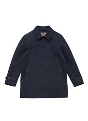 Sealup Concealed Placket Raincoat Blue