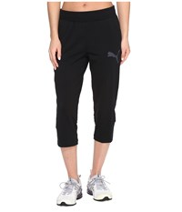 Puma Elevated 3 4 Sweatpants Cotton Black Women's Workout