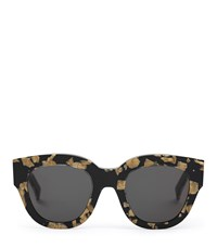Reiss Cleo Monokel Eyewear Acetate Sunglasses In Black Marble
