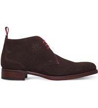 Jeffery West Dexter Chukka Suede Boots Dark Brown