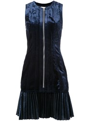 3.1 Phillip Lim Bonded Velvet Dress Blue