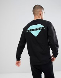 Diamond Supply Co. Viewpoint Long Sleeve T Shirt In Black