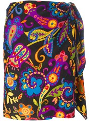Moschino Vintage Floral Print Skirt Multicolour