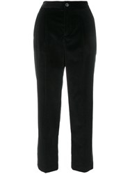 A.P.C. Cropped Trousers Cotton Black
