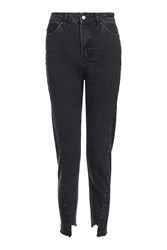Topshop Moto Twisted Seam Mom Jeans Washed Black