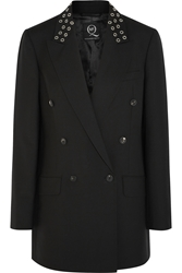 Mcq By Alexander Mcqueen Oversized Eyelet Embellished Wool Blend Blazer