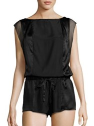 Calvin Klein Underwear Black Tempt Silk Romper