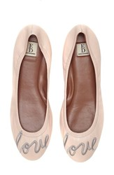 Ed Ellen Degeneres Women's 'Langston' Ballet Flat Pink Champagne Leather
