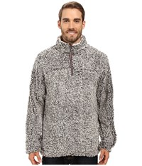 True Grit Frosty Tipped Pile 1 4 Zip Pullover Charcoal Men's Long Sleeve Pullover Gray