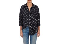 R 13 R13 Women's Skull Print Silk Shirt No Color
