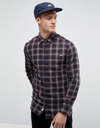 Jack And Jones Vintage Checked Shirt In Regular Fit Fried Brick Red