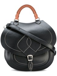 Maison Martin Margiela Braided Top Handle Saddle Bag Black