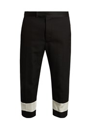 Haider Ackermann Orbai Slim Leg Cropped Wool Trousers Black Multi