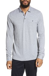 Ted Baker London Scooby Trim Fit Long Sleeve Polo Shirt Grey Marl
