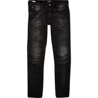 River Island Mens Black Faded Jack And Jones Slim Fit Jeans