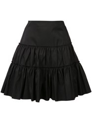 Giambattista Valli Layered Mini Skirt Women Silk 40 Black