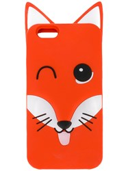 Maison Kitsune Fox Iiphone 6 Case Men Silicone One Size Red