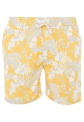 Lightning Bolt Aloheaves Turtle Bay Swimming Shorts Nugget Gold