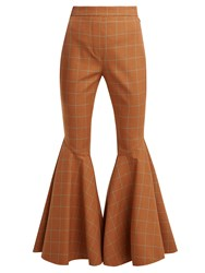 Ellery Jacuzzi Checked Trousers Brown Multi