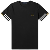 Fred Perry Authentic Abstract Cuff Tee Black