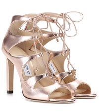 Jimmy Choo Blake 100 Leather Sandals Gold