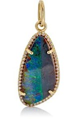Irene Neuwirth Diamond And Boulder Opal Pendant Colorless