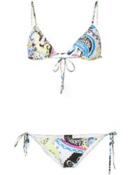 Etro Printed Triangle Bikini White