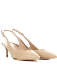 Gianvito Rossi Leather Sling Back Pumps Neutrals