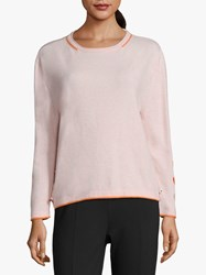 Betty Barclay Button Trim Sweater Rose Melange