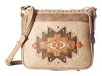 American West Earth Bound Zip Top Crossbody Stone Beige Cross Body Handbags