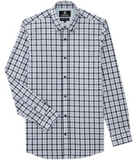 Austin Reed Wrinkle Free Blue Check Shirt