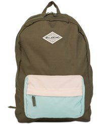 Billabong School's Out Colorblocked Backpack Olive Green