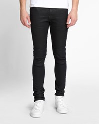G Star Washed Black Zipped Ankle Slim Fit Stretch Afrojack 5620 3D Jeans