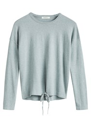 Sandwich Drawstring Detail Jumper Grey