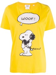 Chinti And Parker Snoopy Print T Shirt Yellow