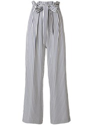 Harmony Paris Belted Striped Trousers White
