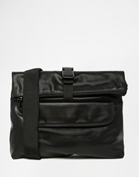 Asos Cross Body Bag In Faux Leather Black