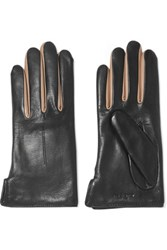 Rag And Bone Stella Two Tone Wool Lined Leather Gloves Black