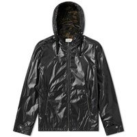 Saint Laurent Nylon Camo Lined Windrunner Jacket Black