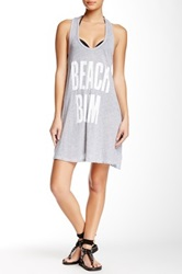 Wildfox Couture Graphic Print Oversized Tank White