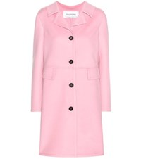 Valentino Virgin Wool Coat Pink